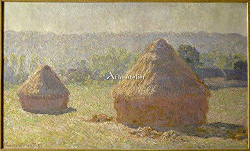 クロード・モネ「積みわら Haystacks at the end of the Summer, at Giverny. 1891 」 インテリア アート 絵画 プリント 額装作品 フレーム:木製(黒) サイズ:S (221mm X 272mm)