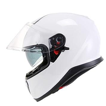 ZCRFY Cascos Integrales Motocicleta Jet Motocross Doble Visera Modular Cara Completa Cara Abierta Crash Ciclo De Peso Ligero Casco para Seguridad con Visera ...