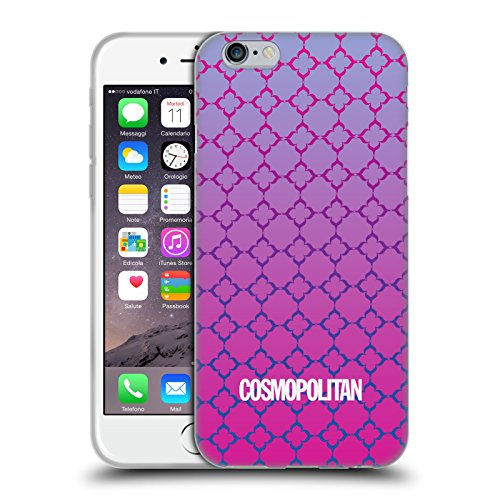 Official Cosmopolitan Ombre 8 Fun Summer Soft Gel Case for Apple iPhone 6 / 6s
