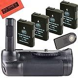 Battery Grip Kit for Nikon D5500 Digital SLR Camera Includes Qty 4 BM Premium EN-EL14 Batteries + Vertical Battery Grip + Wireless Shutter Release Remote Control