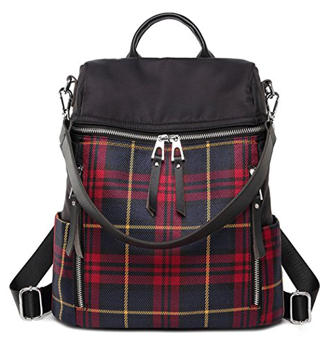 - Backpack Purse for Women Convertible Fashion Crossbody Shoulder Bag for Travel Daily Use(Plaid)