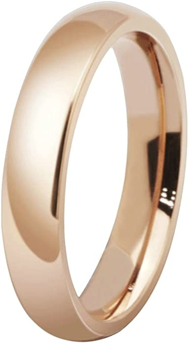 MoAndy Anniversary Ring Stainless Steel Ring for His Wedding Ring Plain