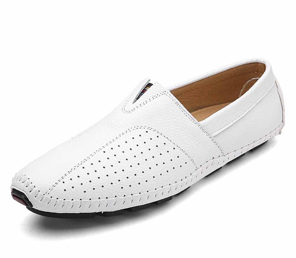 GLSHI Männer Leder Hohle Loafer Schuhe 2018 Sommer Neue Mode Breathable Driving LederSandalee