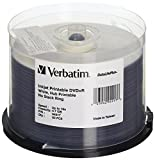Verbatim 4.7GB up to16x DataLifePlus White Inkjet PrintableHub Printable Recordable Disc DVD+R (50-Disc Spindle) 2-Pack