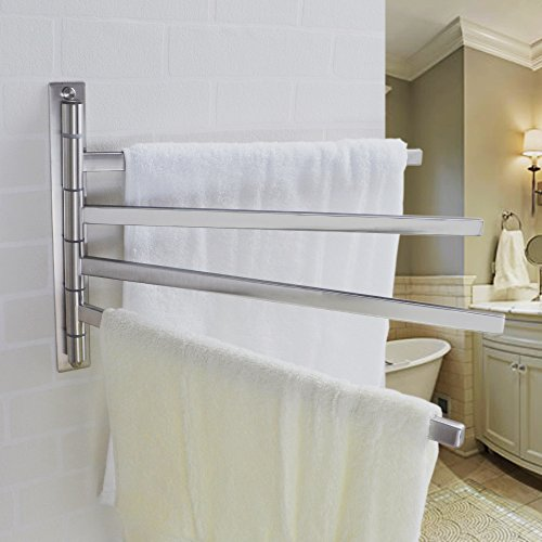 hot sale Haceka Kosmos Chrome Double Swing-arm Towel Rail Chrome-plated Metal 402311