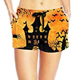 Haunted Family Castle Women's Hot Pants Sexy Low Waist Beach Pants Quick Dry Swim Trunks Pocket