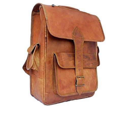 TUZECH Modern Sleek Finish Pure Leather Bag Hunter Satchel Professional Regular Use Bag - Fits Laptop Upto 15.6 Inches