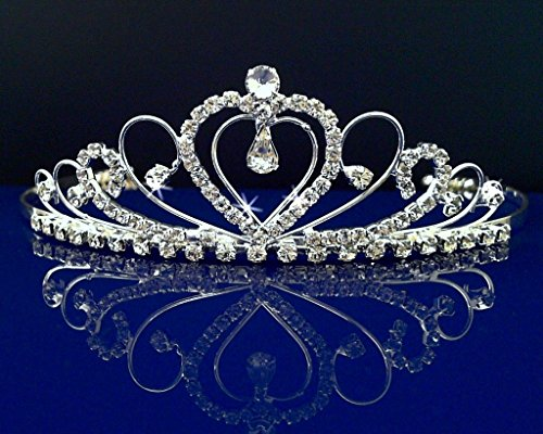 [Rhinestones Crystal Wedding Bridal Prom Pageant Princess Costume Tiara Crown 42206 by] (Girls Jade Princess Costumes)