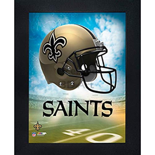 New Orleans Saints 3D Poster Wall Art Decor Framed Print | 14.5x18.5 | Lenticular Posters & Pictures | Memorabilia Gifts for Guys & Girls Bedroom | NFL Football Team Sports Fan Pictures for Man Cave