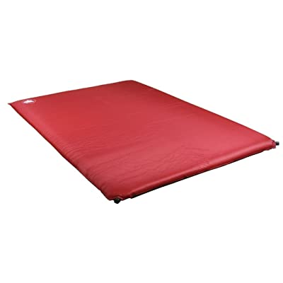 10T Bob Twin Matelas auto-gonflable pour 2 personnes Rouge/Gris 188 x 130 x 8 cm