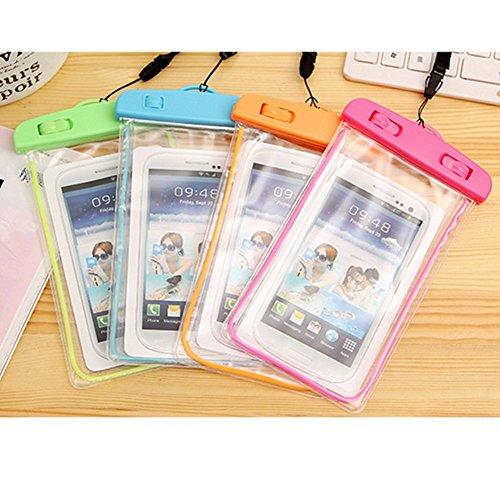 Distinct® Universal PVC leuchtende wasserdichte Unterwassertasche für iPhone Samsung Orange o1Jfm8
