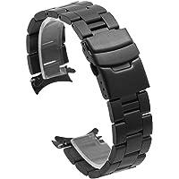 Correa de reloj de acero inoxidable con extremo curvado, correa de reloj de 20mm y 22mm, correa de repuesto para reloj…