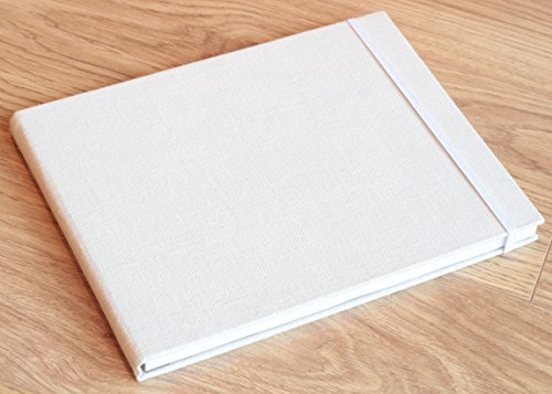 Sketch Pad - Size 8.5 x 11.0 inches - 80 sheets Sketch Papers - Linen bound hardback - Ideal for Drawing, Sketching, Journaling - MozArt Supplies Photo #4