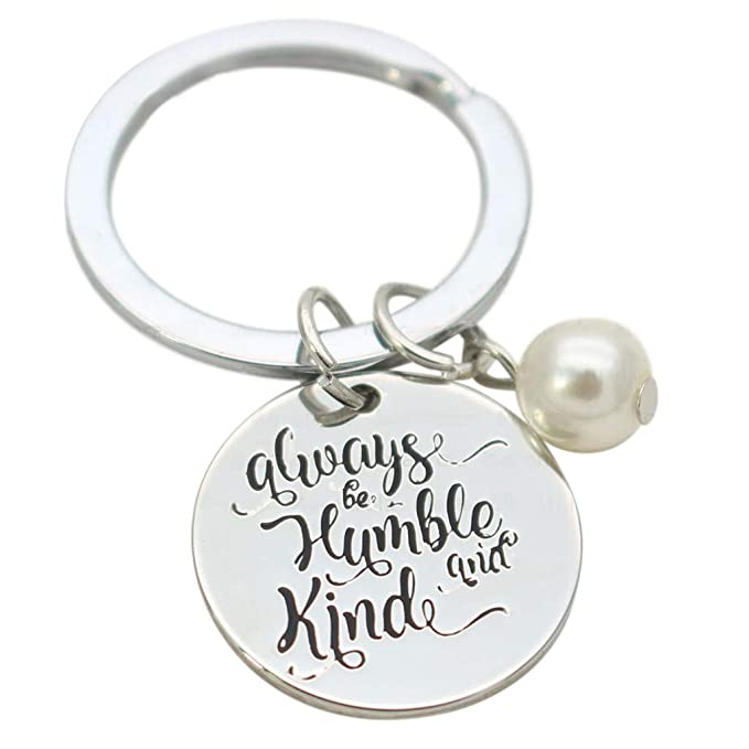 Amazon.com: AHAYAKU - Llavero de perlas redondas con grabado ...