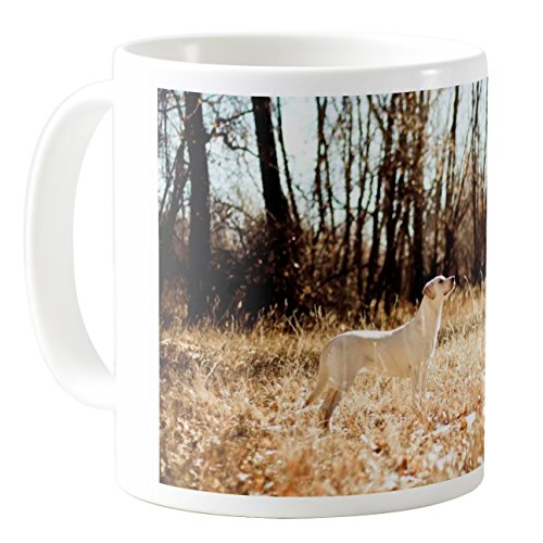 Hound Dog Sweet Tea - AquaSakura - Sweet White Dog - 11oz Ceramic Coffee Mug Tea Cup
