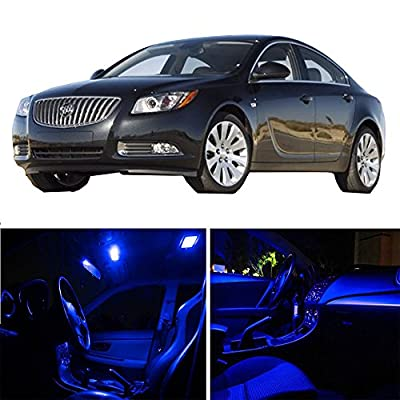 Replacement fit for Buick Regal 2011-2016 Package Kit Blue LED Interior Light Accessories Replacement Parts 16 Pcs: Automotive
