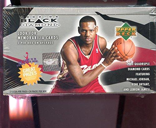2003-04 Upper Deck Black Diamond Set NBA Basketball 03-04 Wax Pack Box 2004 Lebron James Rookie Card Possible (Upper Deck 03 Basketball)