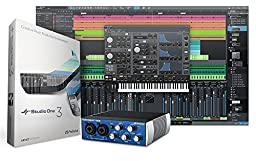 PreSonus AudioBox USB 2x2 Recording System Bundle with PreSonus HD7 Headphones, Studio One Software, Pop Filter, XLR Cable, Polishing Cloth
