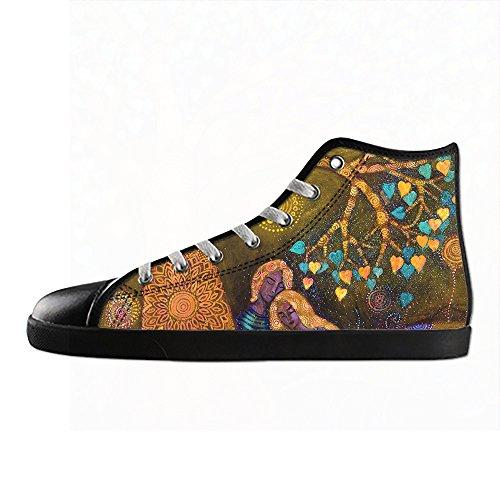 Custom paisley Womens Canvas shoes I lacci delle scarpe scarpe scarpe da ginnastica Alto tetto