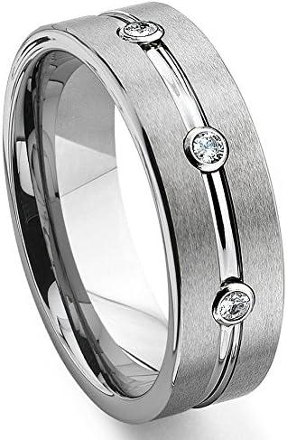 Tungsten Diamond Engagement Rings