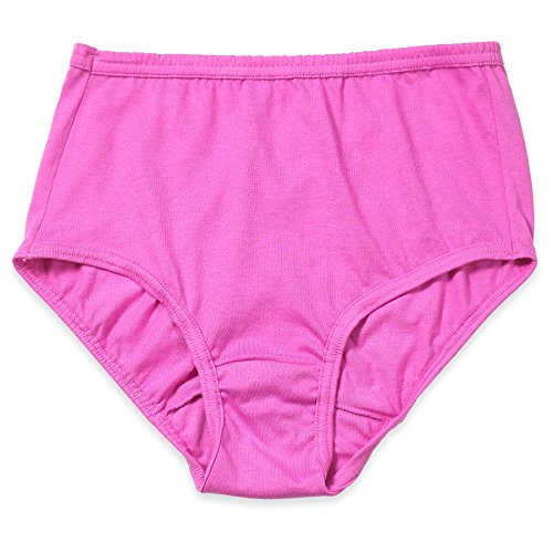 Valair Women's Full Cut Soft Cotton Brief Panty - Pack Of 3 - Various Colors (Pink, (Hi Waist Brief Panty)
