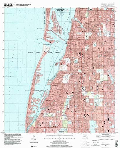 (YellowMaps Clearwater FL topo map, 1:24000 Scale, 7.5 X 7.5 Minute, Historical, 1995, Updated 2000, 26.9 x 22 in - Tyvek)