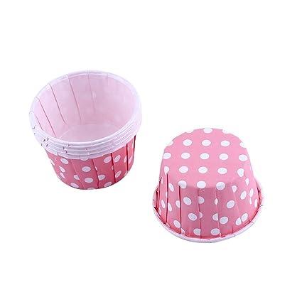 100 Piezas de moldes, moldes de Papel para Magdalenas, Cupcake Wrappers Tazas de Soportes