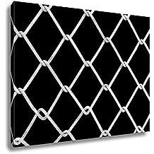 Ashley Canvas Wire Steel Mesh, Kitchen Bedroom Living Room Art, Black/White 24x30, AG5043058
