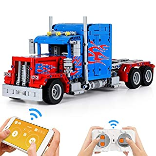 Super Joy Building Blocks Truck Kit for Kids, Educational Engineering STEM RC Truck Construction Car Toys Remote & App Control Set for Teens Boys Girls Child Age 8 9 10(839 Pieces)