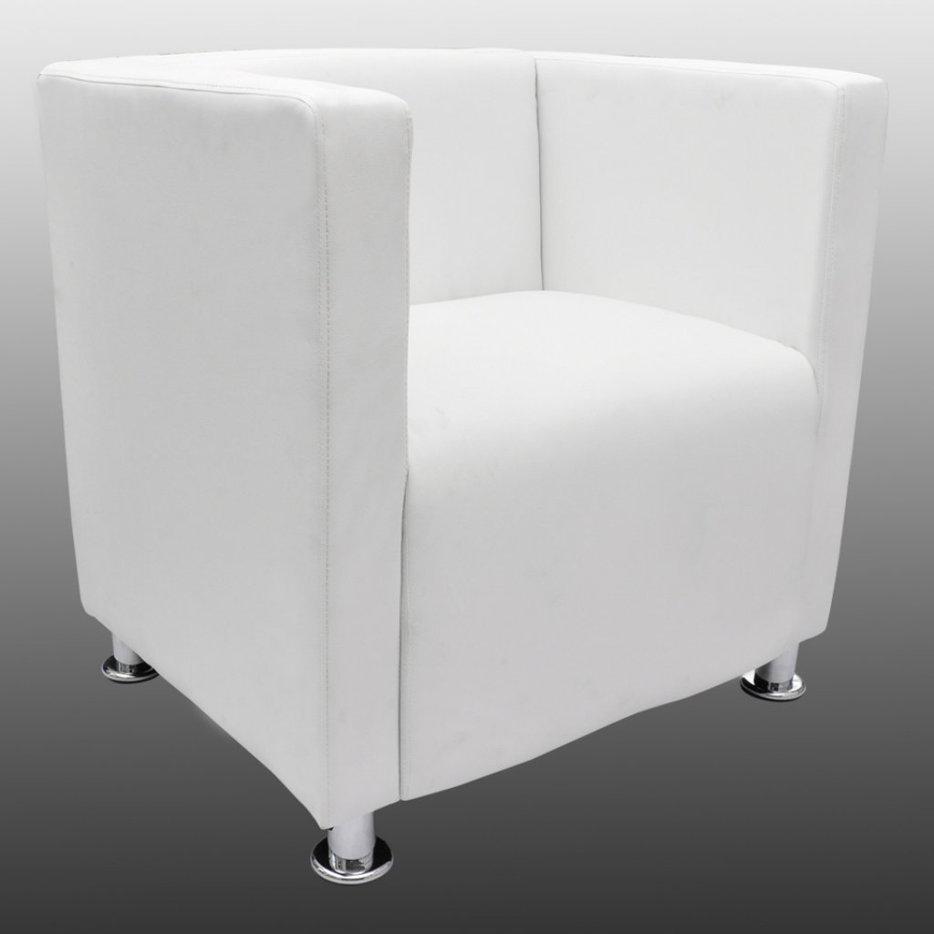 Loungesessel weiß  vidaXL Lounge Sessel Clubsessel Cocktail Stuhl Relax Couch weiß ...