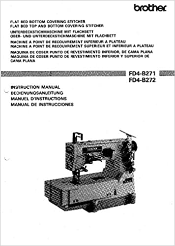 Brother FD4-B271 FD4-B272 Flat Bed Sewing Machine Owners Instruction Manual Plastic Comb – 1900