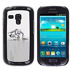 LECELL -- Funda protectora / Cubierta / Piel For Samsung Galaxy S3 MINI NOT REGULAR! I8190 I8190N -- White Robot --