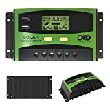 GIARIDE 30A Solar Charge Controller 24V 12V PWM Solar Panel Battery Intelligent Regulator Controller with USB Port and LCD Display