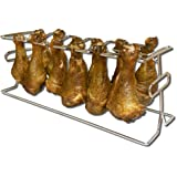 King Kooker 12WR 12-Slot Leg and Wing Grill Rack for Poultry
