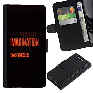 Planetar® Modelo colorido cuero carpeta tirón caso cubierta piel Holster Funda protección Para Sony Sony Xperia Z1 Compact / Z1 Mini (Not Z1) / Z1 Mini (Not Z1) ( Imaginación Infinito Naranja Limpio Negro )