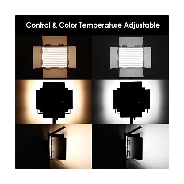 Neewer Pacchetto di due Luci LED 660 Illuminazione Video con Cavalletto in acciaio inox di 200cm Kit:LED Luce Bi-colore… 6 spesavip