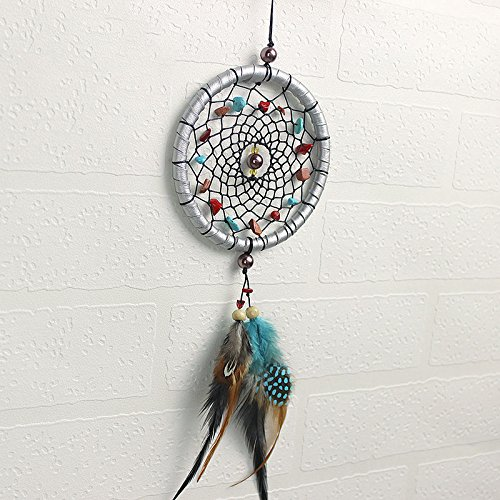 Apollo Ceiling Fan (UNAKIM--Small Feather Handmade Dream Catcher Car Wall Door Hanging Decoration Ornaments)