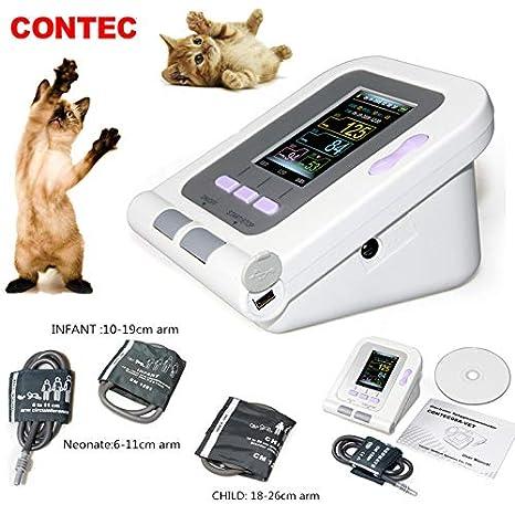 Amazon.com: CONTEC08A-VET Digital Veterinary Blood Pressure Monitor NIBP Cuff,Dog/Cat/Pets (AC-DC Adapter for CONTEC08A/08C/08AVET): Health & Personal Care