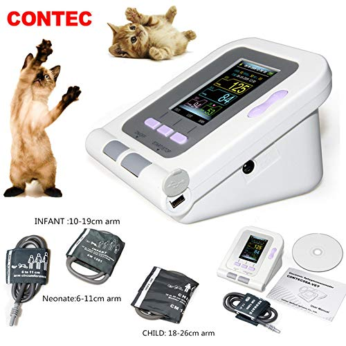 (CONTEC08A-VET Digital Veterinary Blood Pressure Monitor NIBP Cuff,Dog/Cat/Pets (CONTEC08A-VET with 3 Cuffs))