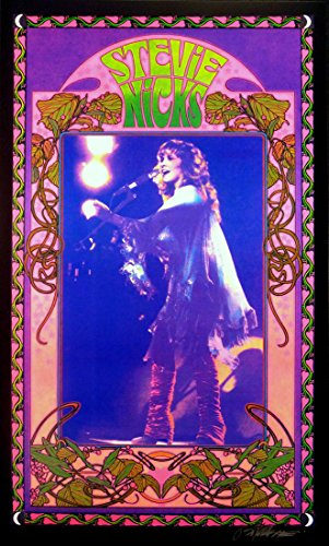 Stevie Nicks Poster Fan Club #1 Beautiful Lithograph Hand Signed by Bob Masse (Hand Lithograph Signed Le)