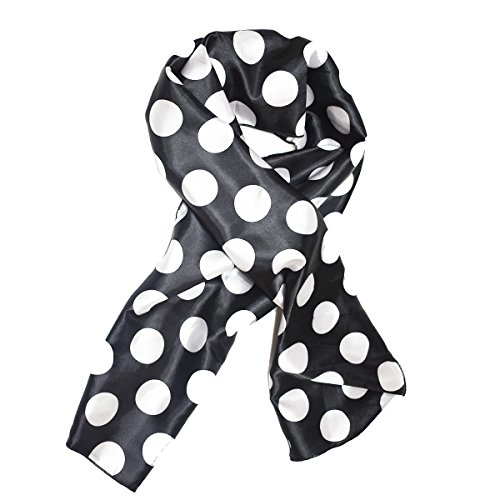 Black and White Spotted Edge Laying Rectangular Satin Scarf | Protect Edges While You Sleep by Natural Hair Shop