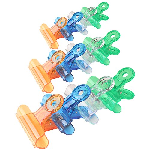 (Z Zicome 30 Pack Plastic Chip Bag Clips Clamps, Assorted Sizes and Colors )