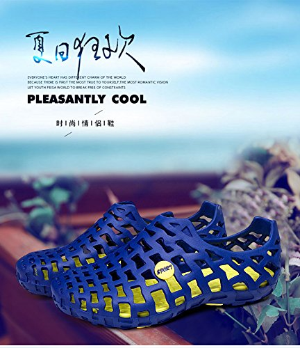 Respeedime Summer Women Slippers Sandals Non-Slip Breathable Couple Beach Shoes Blue Y5UyyvB4