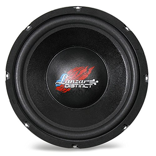 Lanzar 10in Car Subwoofer SVC - IB Open Air Audio Stereo Speaker, 4 Ohm Impedance, Steel Basket, 240 Watt Power, Non-Pressed Paper Cone and Foam Surround for Vehicle Sound System - Inch Lanzar 10 Woofers