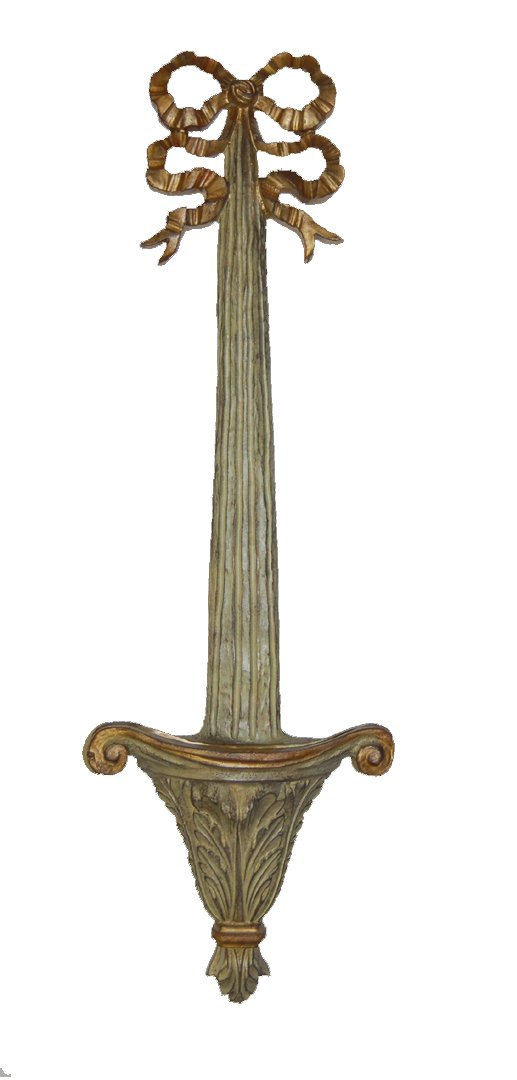 Hickory Manor House Bow Top Plate Holder, Green/Gold