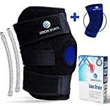 Arrow Splints Knee Brace for Meniscus Tear | Also for Arthritis, PCL, Tendonitis, ACL, MCL, Torn...