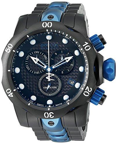 Invicta 15461 Men's 'Venom' Swiss Quartz Stainless Steel Casual Watch
