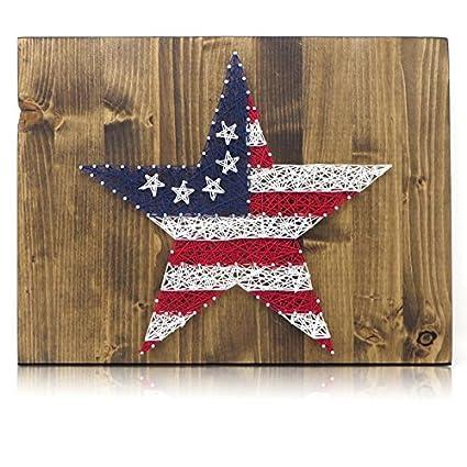 Amazon Com Diy String Art Kit Stars And Stripes String
