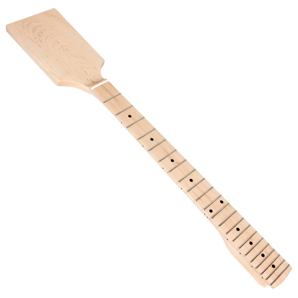 Kmise DIY Parts Clear Satin Maple 22 Fret Bolt on Paddle Headstock Electric Guitar Neck (4334250134) by Kmise (Image #9)