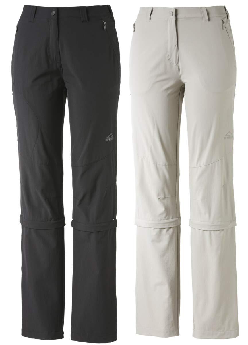 gris FR   XS (Taille Fabricant   17) MC KINLEY Zipp Mandorak Kg Pantalon Femme